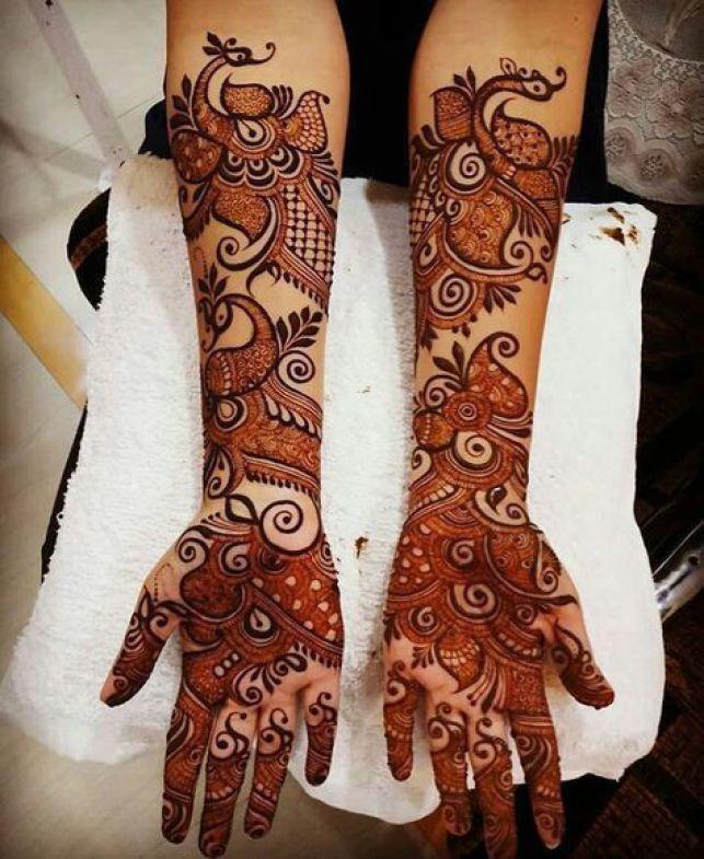 White Wedding Dress With Henna: Pistol Pete's Henna Designs/ Temporary Tattoo / Mehandi