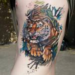 pete salais Tiger tattoo